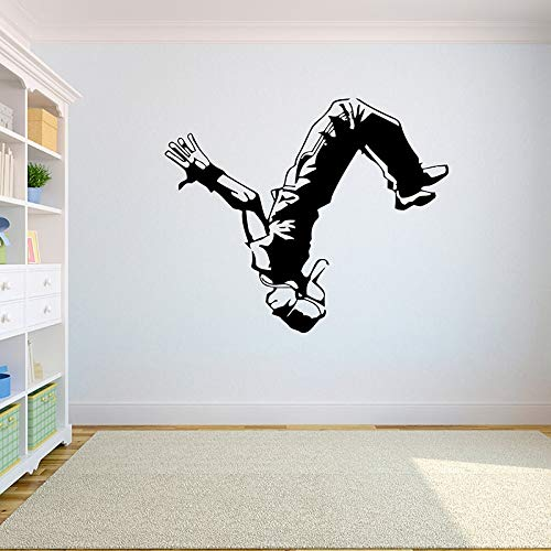 Cool Fashion Extreme Sports Backflip Dance Parkour Action Wall Sticker Vinilo Art Decal Adolescente Boy Fans Dormitorio Sala de estar Club Studio Home Decor Mural