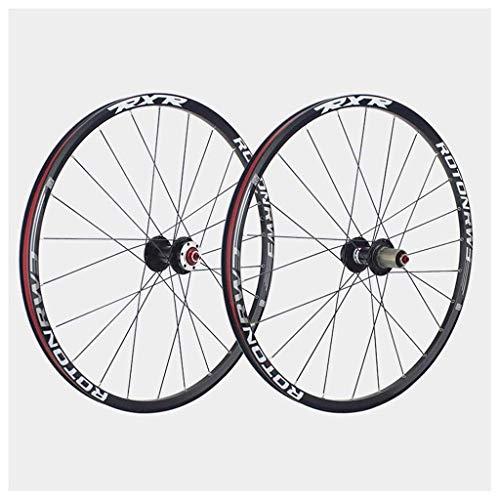 YBNB Ruedas De Ciclismo 26 Pulgadas De Aluminio Juego De Ruedas De Doble Pared Buje De Llanta Eje De Liberación Rápida 9,10,11 S Cassette 1791 G/Par