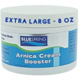 BlueSpring Arnica Cream Pain Relief - [8oz] jar with Aloe Vera & Olive Oil Infusion to Boost Relief Effects - Helps Relieve Bruising, Discoloration, Swelling, Muscle Soreness & Poor Circulation