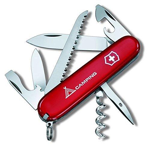 Victorinox Taschenmesser Camper 13 Funktionen, Holzsäge, Dosenöffner mit kl. Schraubendreher rot Camping B1