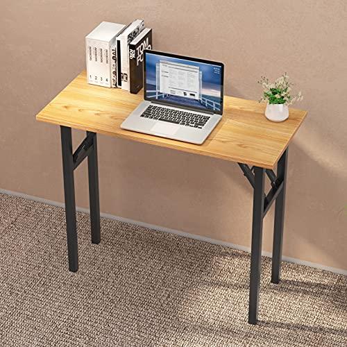 sogesfurniture Mesa Escritorio Plegable, 80x40 cm Escritorio Compacto Mesa de Ordenador Mesa de Estudio Mesa de Trabajo...