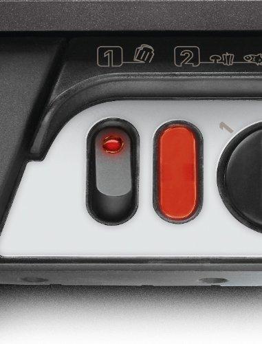 Rowenta GR3060 Ultra Compact Comfort - Bistecchiera con 3 Posizioni di Cottura, Facile da Pulire, Potenza 2000 W, Nero/Argento, 32x32x20 cm