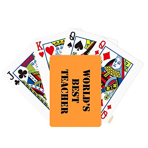 OFFbb-USA Respectable Best Teacher Master Poker Playing Card Tabletop Board Game