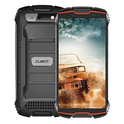 CUBOT Kingkong Mini 2 Outdoor Smartphone ohne Vertrag, Wasserdicht, Stoßfest, 4 Zoll Display, 3000mAh Akku, Android 10, Dual SIM, 3GB RAM/32GB, 8MP/13MP Kamera, Schwarz und Rot