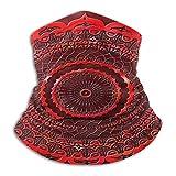 Lawenp Mandala de encaje rojo pasamontañas para mujer diadema bufanda pañuelo para hombre, silenciador, polaina de cuello, magia, pañuelo de Aliceband