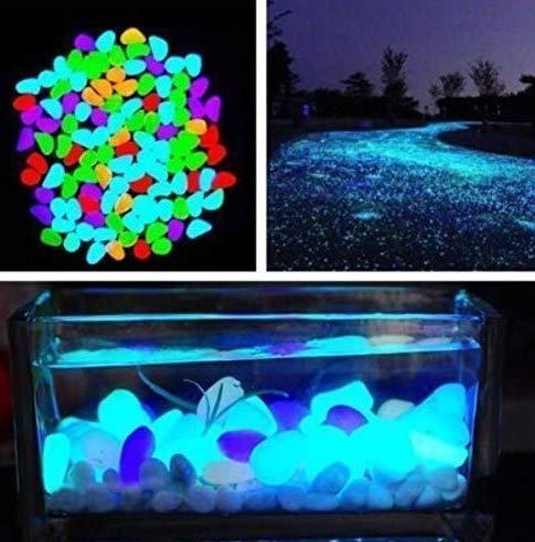 30 piedras luminosas multicolores, brillantes en la oscuridad, piedras luminosas para acuario, jardín, parterre, decoraciones de fuentes de agua