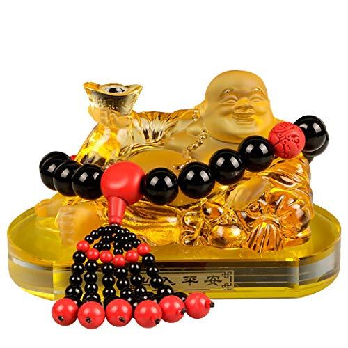 ADUEYE Maitreya Buddha Car Decoration Car Glass Buddha Home Decoration Gift (Color : Style3)