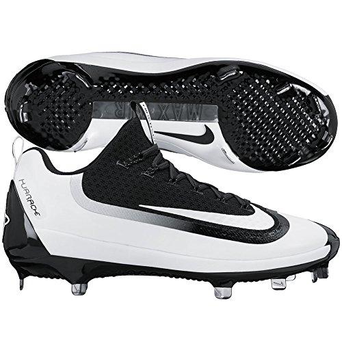 Nike Men's Air Huarache 2kfilth Elite Low Baseball Metal Cleats, Black/White, 14 M US