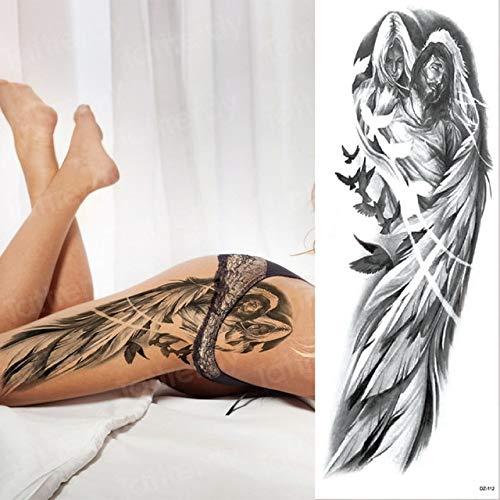 3 Stücke-Armband Tattoo wasserdichte Tattoo weibliche mädchen körper Aufkleber Bikini flügel Tattoo schwarz 3 Stücke-