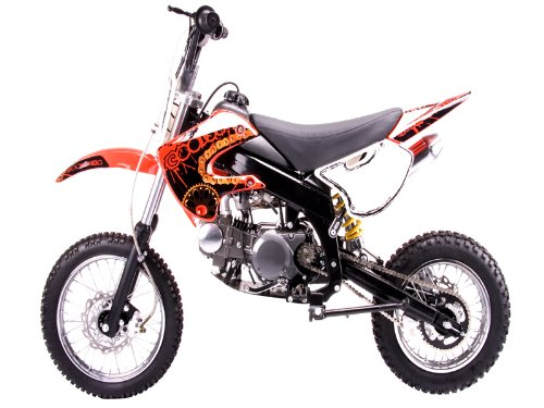 Coolster model # 214s is a 125cc dirtbike with a semi auto clutch - red color