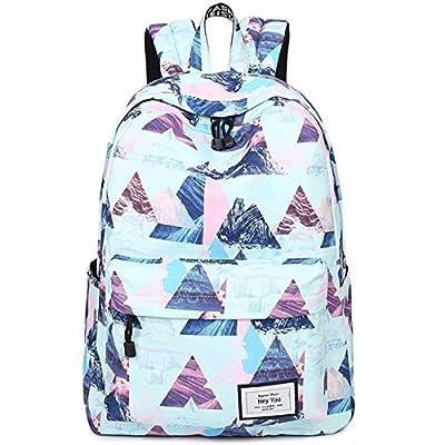 Hey Yoo Girls School Backpack Waterproof Travel Bookbag School Bag Backpack for Teen Girls Women (Blue) from Hey Yoo