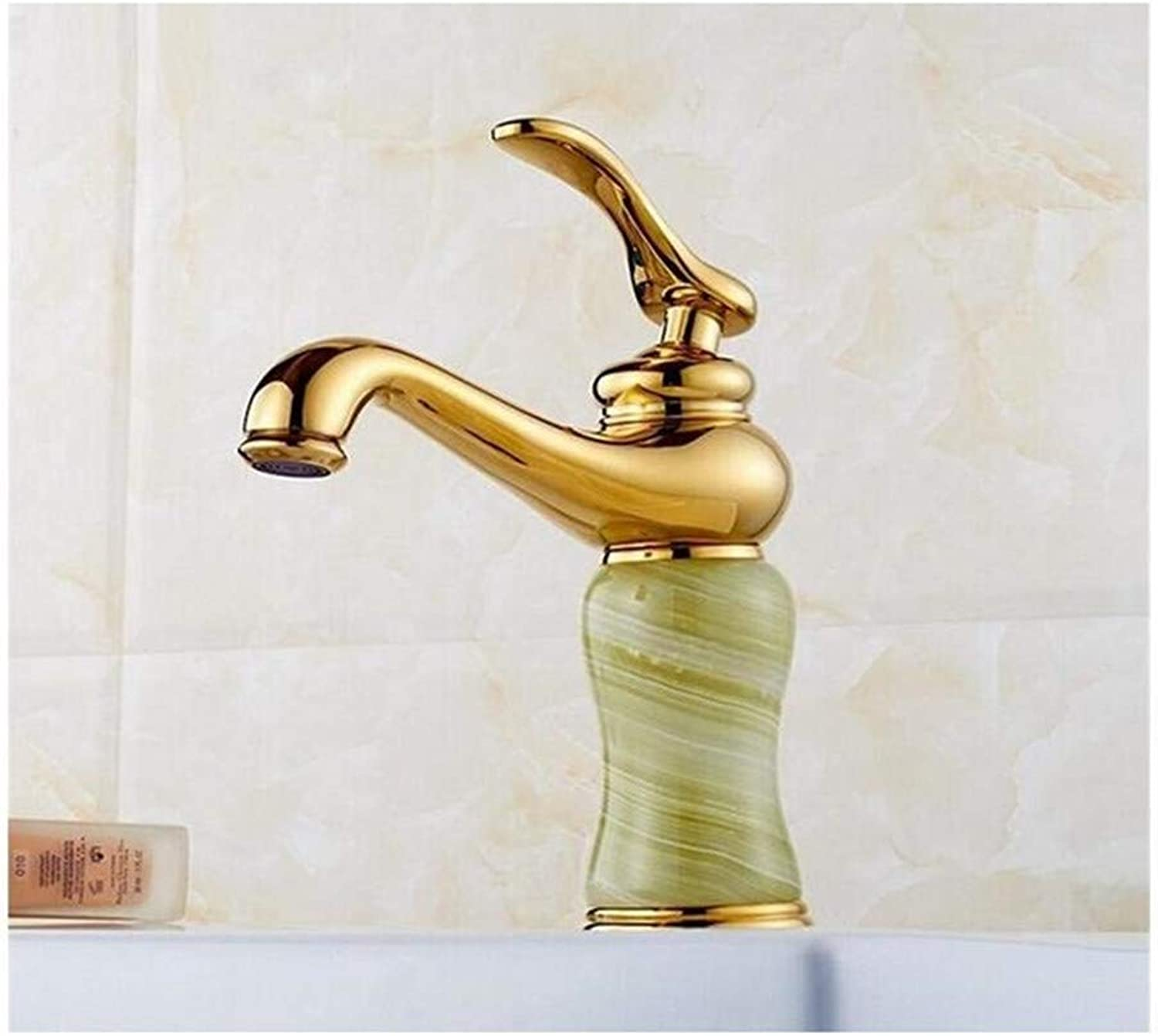 Basin Faucets gold Finish Single Lever Basin Faucet Deck Mount Bathroom Sink Mixer Tap faucet for bathroom, 2