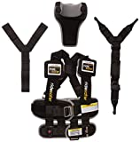 Ride Safer Delight Travel Vest, Small Black – Includes Tether and Neck Pillow