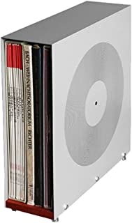 Nai-storage Soporte de sobremesa del Disco de Vinilo, Grabador de vídeo fonógrafo Metal LP Rack de Almacenamiento - Sala d...