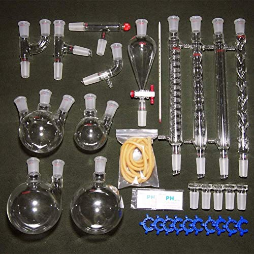 Labor Chemische Instrumente, Organische Chemie Laborglas Kit Wissenschaftliche Wasserfiltration Ätherisches Öl Alkohol Destillationstank Und Kondensatorreiniger