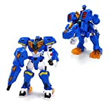TheJD Mini Force Super Dino Power Tyra Bolt - Transformation Rider Mode to Armored Robot Mode / Tyranno Robot & Bolt Figure