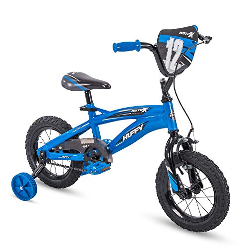 Huffy Kid Bike, Moto X, Quick Connect, Gloss Blue, 12