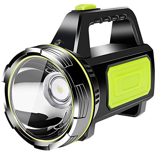 LIANYG Lámpara Camping Luz de la Linterna Recargable del Trabajo del LED Resistente al Agua Proyector Linterna Linterna de Seguridad de luz de Camping 843 (Color : Natural)