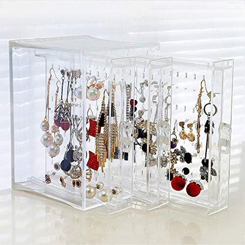 WLAY Sieradenstandaard, transparant kristallen sieraden, plastic, het rek toont halsketting, armband, rek, oorbellen, kleerhanger, nail art tentoonstellingsstand