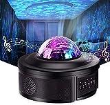 Luz del proyector Galaxy Proyector de luz nocturna con DIRIGIÓ Galaxy Ocean Wave Proyector Bluetooth Música Altavoz for Kid Adult Dormitorio, Salas de juegos, Fiesta, Cine en casa, Luz de noche Ambian