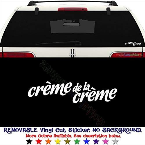 Creme De La Creme Best Japanese JDM PERMANENT Vinyl Decal Sticker For Laptop Tablet Helmet Windows Wall Decor Car Truck Motorcycle - Size (07 Inch / 18 Cm Wide) - Color (Gloss Black)