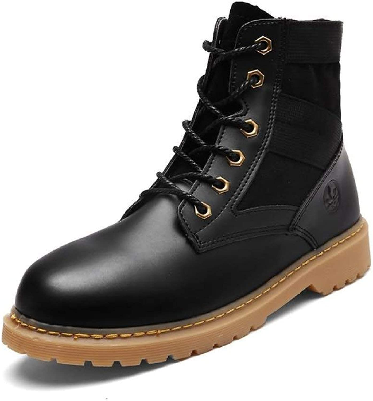 Winter Martin Stiefel Wasserdichter Knchel Mit Niedrigem Absatz Schuhe Warm Lace Up Men Lssig Winter Stiefel Gre  38-43