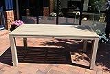Dreams4Home Gartentisch 'Cayenne',Tisch, Esstisch, Beistelltisch, Terrassentisch, Gartenmöbel, Holztisch, (B/L/H) ca. 160 x 90 x 77 cm, Garten, in grau