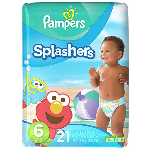 Price comparison product image Pampers Splashers Disposable Swim Diapers,  Size 6,  21 Count,  JUMBO