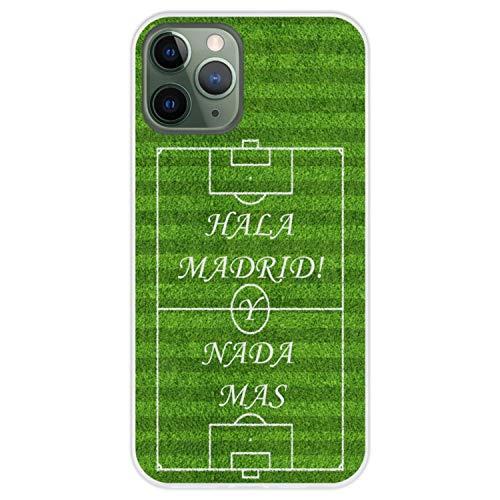 Hapdey Funda Transparente para [ iPhone 11 Pro ] diseño [ Madrid, Aficionados del fútbol y Nada mas ] Carcasa Silicona Flexible TPU