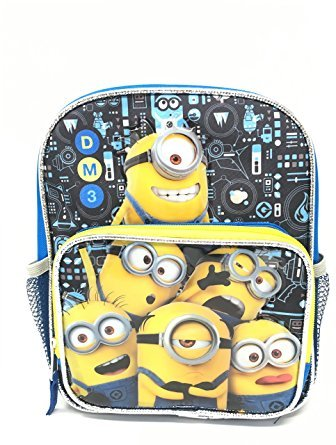 Despicable Me Minions 3 10' Toddler Canvas Blue School Backpack