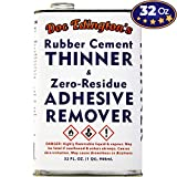 Doc Edington's Rubber Cement Thinner & Adhesive Remover 32oz. Amazing Zero-Residue, Non-Staining & Low-Odor Formula. Great for Fast, Damage-Free Sticker Removal for Book Repair & FBA Retail Arbitrage