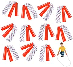 ArtCreativity 84 Inch Nylon Ropes for Kids - Pack of 12 - Durable Jump Ropes with Plastic Handles - Healthy Indoor and Outdoor Skipping Activity, Party Favors, Gifts for Boys and Girls