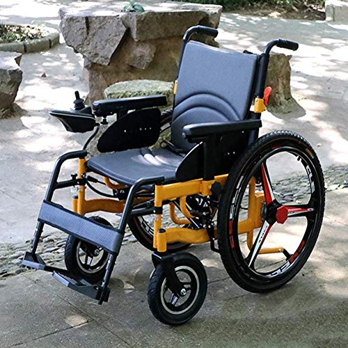 For Sale! TXDWYF Heavy Duty Electric Wheelchair, Foldable and Lightweight Powered Wheelchair, with E...