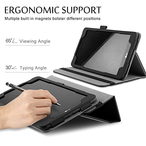 IVSO Case with Keyboard for LG G Pad F2 8.0 Sprint (LK460) Tablet, Detachable Wireless Keyboard Front Prop Stand Case for LG GPad F2 8.0 Sprint Model LK460 8-Inch Android Tablet 2017 Release (Black)