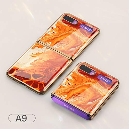 DishyKooker Flip Cellphone Shell Foldable Electroplated Painted Folding Phone Case For Sam-sung Gal-axy Z A9 Necessary Items
