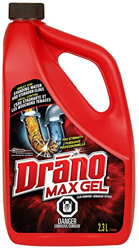 drain cleaner for standing waters Drano Max Clog Remover Liquid Drain Cleaner