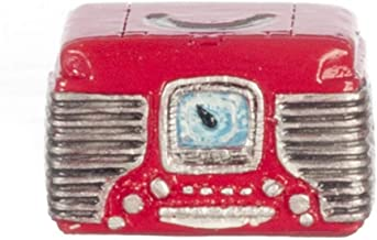 Dollhouse Miniature 1:12 Scale RED Retro Radio #T8594
