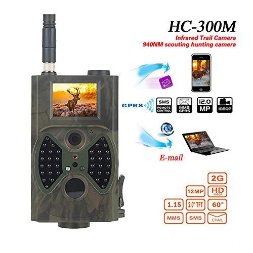 Cámara de juego GSM 12MP 1080P Cámaras de caza con visión nocturna, detección de movimiento de 2.0 'LCD - Material duradero a prueba de agua para monitoreo de vida silvestre, seguridad en el hogar