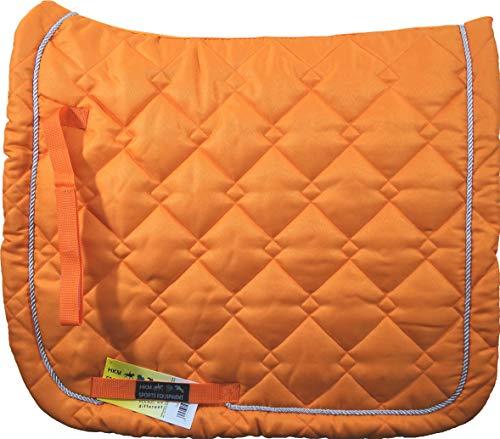 HKM Schabracke -Gently-, Dressur, orange/Silber, Vollblut/Warmblut