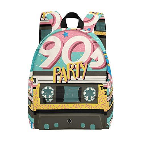 1990er Jahre Musik-Tape-Rucksäcke für Kinder, Büchertasche, Teenager, Mädchen, Damen, College-Rucksack, Buchtasche, modisch, Reisetagesack