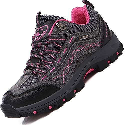 Brfash Zapatos de Senderismo para Hombre Zapatos de Montaña Impermeables Antideslizantes Escalada Zapatos de High Cut Trekking AL Aire Libre Sneakers