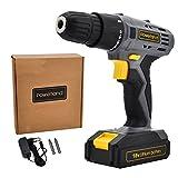 Powerland Taladro atornillador inalámbrico D018 18/20 V con batería/cargador/accesorios