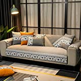 Funda se Puede Empalmar de Sofá Funda para sofá Antideslizante Protector Cubierta de Muebles,Funda de sofá de Tela Moderna,Gris_Los 70×50cm
