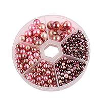 1箱 カラーラウンドパール 丸い無孔の模造真珠 衣料品アクセサリー 手作りのビーズ