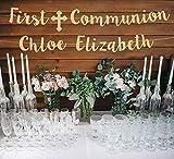 Bannière de première communion avec dieu bénédiction bannière de communion personnalisée bannière de première communion, plaque d'or personnalisée bannière de communion décoration de communion