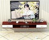 Mueble TV Flotante, Unidad Entretenimiento Montaje en Pared, Soporte para TV Consola Multimedia Pared Caja TV Satelital Caja Cable Estante Almacenamiento/B / 120cm