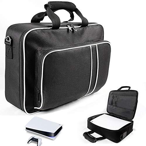 ZRXRY PS5-Tragetasche, wasserdicht und stoßfest PS5-Aufbewahrungstasche, tragbare Elektronikzubehör Aufbewahrungskoffer mit 2 Fächern