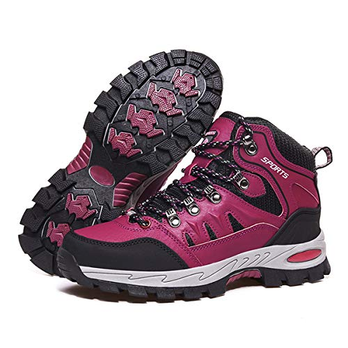 Zapatillas Trekking Hombre Mujer Trail Running Antideslizantes Zapatos de Senderismo Transpirable Botas Montaña Bajas al Aire Libre Rosa 41 EU
