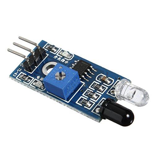 ILS. - Sensore Infrarossi per Evitare Ostacolo per Arduino Robot Automobile Intelligente (5 Pezzi)