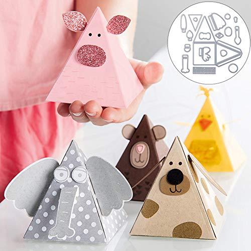 mothcattl Schneidwerkzeuge,Pyramide Metallprägung Schablonenform Vorlage für DIY Kartenherstellung Prägung Schablone Sammelalbum Album Papierkarten Craft Decor